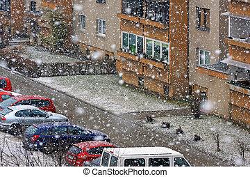 Snowfall - Snowy street