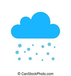 Snowfall weather icon isolated on background. Modern flat pictogram, business, marketing, internet concept. Trendy Simple vector symbol for web site design or button to mobile app. illustration.