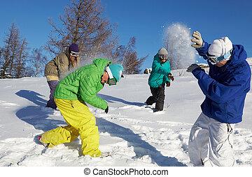 snowfight, tocando