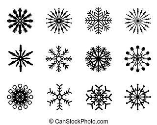 snowflake, ícones, jogo