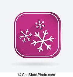 snowflake., 色, 広場, アイコン