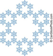 snowflake., 薄片, の, 雪