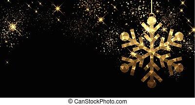 snowflake., 黒, クリスマス, 背景