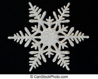 snowflake 2 - snowflake on black