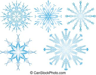 Snowflake 2 - Snowflakes colection isolated on white