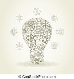 Snowflake a bulb
