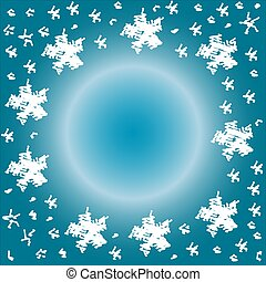 Snowflake Abstract - A simple snowflake scribble sketch with...