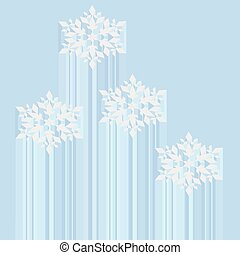 Snowflake abstract vector background Christmas