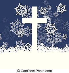 Snowflake abstract vector background in red color with christmas christianity