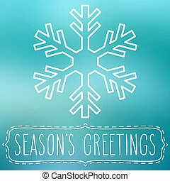Snowflake and Season's Greetings