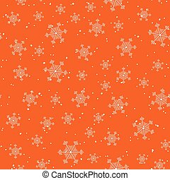 Snowflake and snow red seamless vector