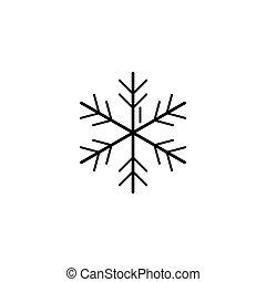 snowflake art line icon. Vector illustration esp 10