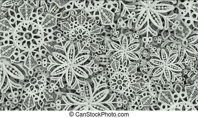 snowflake as chrismas background.