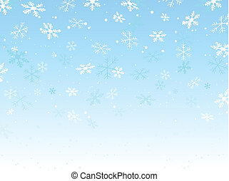 Snowflake background - Background of falling snowflakes