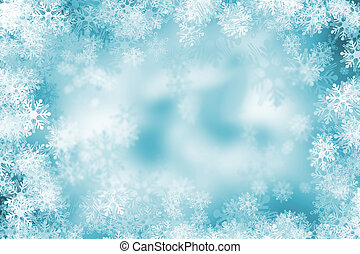 Snowflake background - Background of lots of snowflakes
