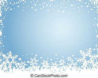 snowflake background - Background of snowflake and stars