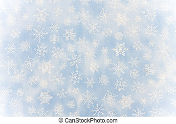 Blue snowflake background with copy space, snowflake background