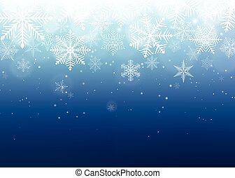 Snowflake background. Blue winter christmas backdrop