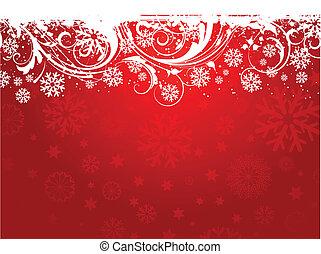 Snowflake background - Grunge style decorative snowflake...