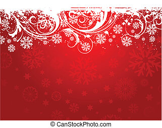 Snowflake background - Grunge style decorative snowflake ...
