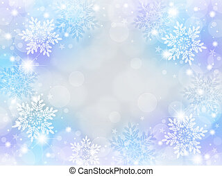 Snowflake background of pale color. blue