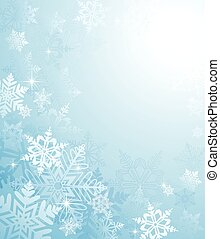 Vector winter background. All elements are behind a clipping mask. Colored with flat colors and simple gradients only. Colors are global swatches.