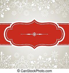 Snowflake Background - Vintage frame design on snowflake ...