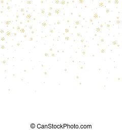 snowflake background white gold