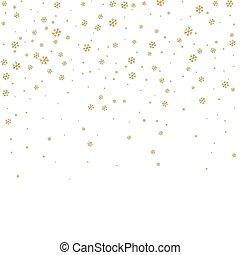 snowflake background white gold - Christmas winter white...