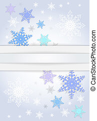 Snowflake background with banner