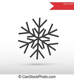 Snowflake black icon vector and jpg. Flat style object. Art pict
