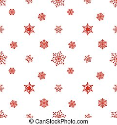 snowflake blanc, fond, rouges