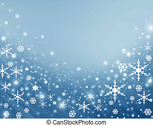 Snowflake - Blue background with a snowflake