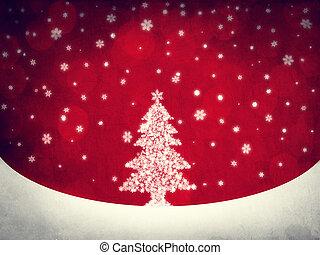 snowflake., boompje, retro, cristmas, style.