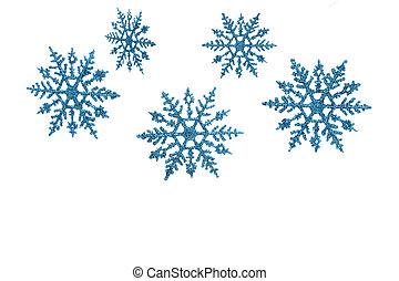 Snowflake Border - Snowflake border with white background, ...