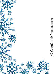 Snowflake Border - Snowflake border with white background,...