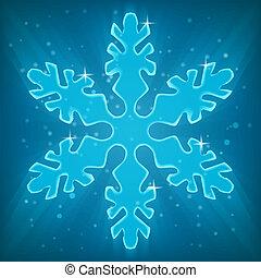 snowflake., brillant