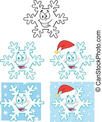 Snowflake Character. Collection Set