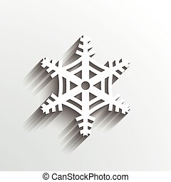 Snowflake Christmas. 3D paper style