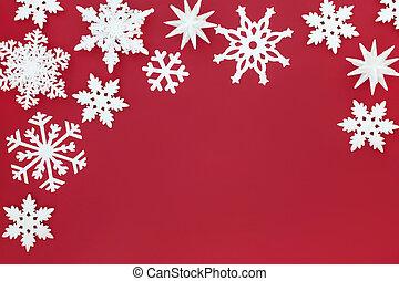 Snowflake Christmas Background Border