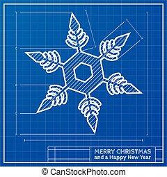 snowflake christmas blueprint