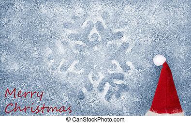 Snowflake, christmas hat, fiber fab - Snowflake, christmas...