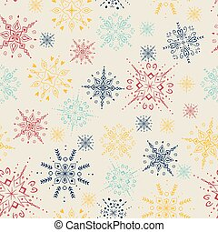 Snowflake Christmas Seamless Pattern