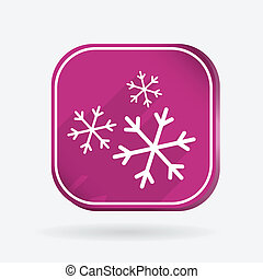 snowflake. Color square icon