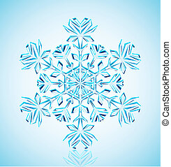snowflake, cristal