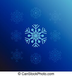 Snowflake design background vector