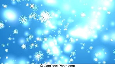 """""""snowflake eight and six star six branch thorn wing falling on black screen, ice dust particles element for Christmas festival blue background"""""""