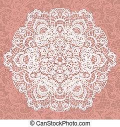 snowflake., elegante, vetorial, lacy, doily.