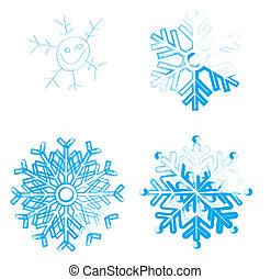 Snowflake. Element for design. Vector  illustration