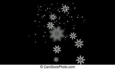 Snowflake falling   - Snowflake falling